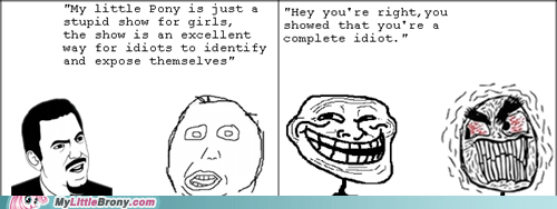 Bronies,haters,idiots,love and tolerate,Rage Comics,trollerance