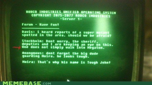 fallout video games one does not simply - 6208550656