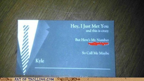 business card call me maybe IRL Music - 6208701184