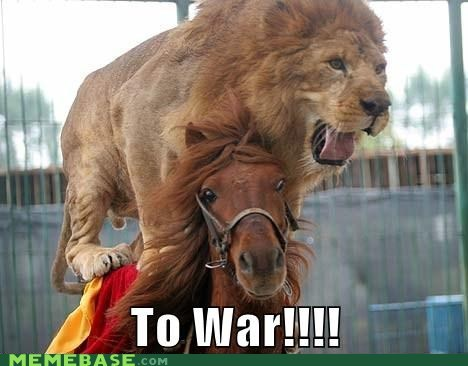 horse,lion,Memes,war