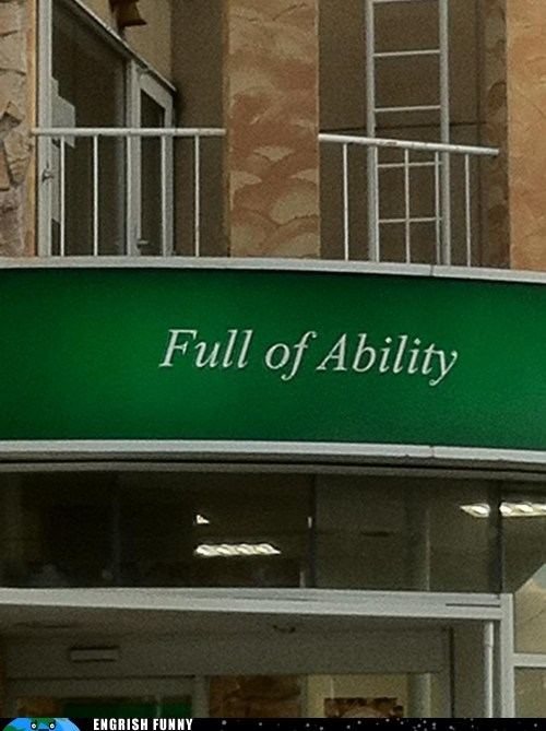 ability,boutique,full of ability,store sign