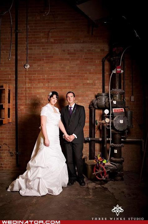boiler room,bride,funny wedding photos,groom,rihanna