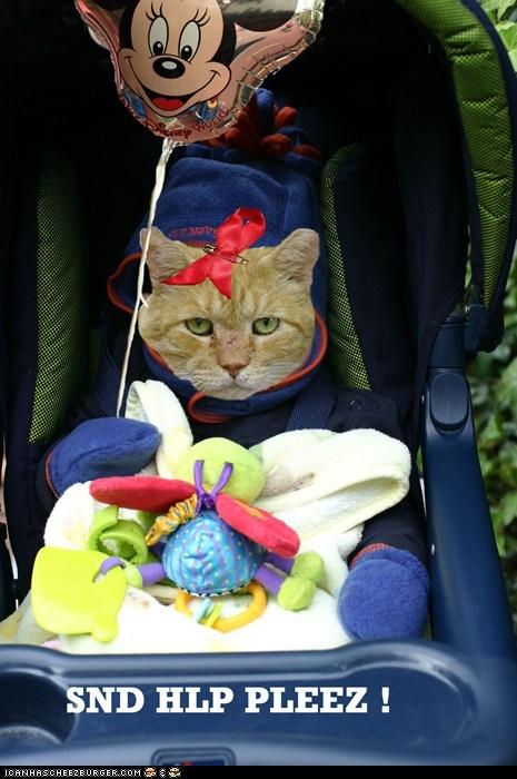 baby halp help pretend stroller suffer torture - 6209187584