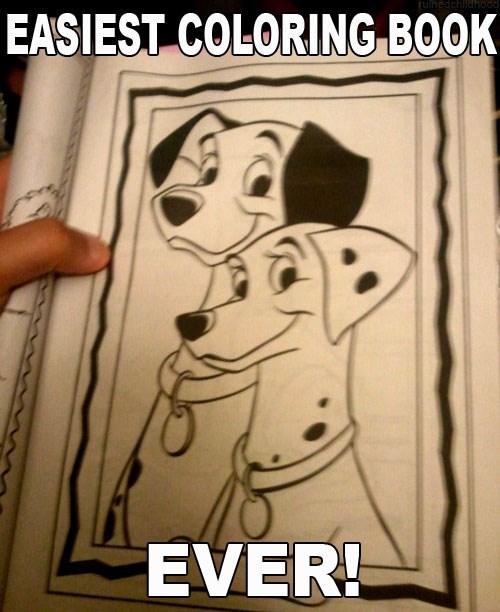101 dalmatians coloring book easiest - 6209322240