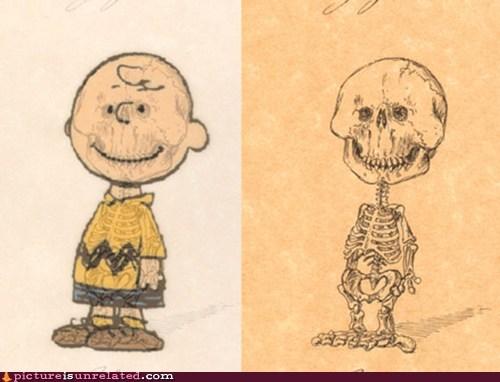 cartoons charlie brown skeleton structure wtf - 6209413888