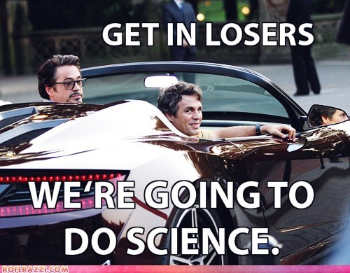 avengers,bruce banner,car,get in the car,Hall of Fame,hulk,iron man,loser,science,tony stark