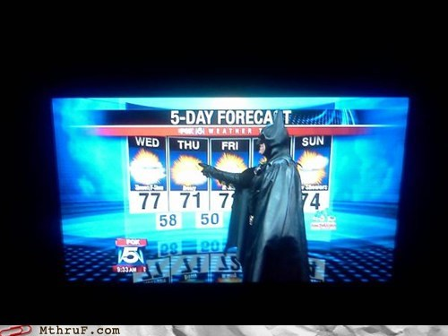 batman cloudy forecast sunny weatherman - 6209519872