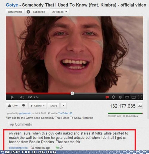 comment,gotye,somebody that i used to k,youtube,youtube comments