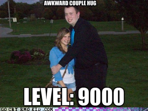 Awkward couple dating hug relationship weird kid - 6209553152