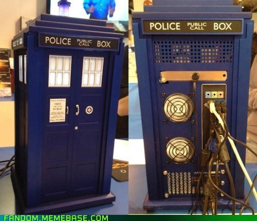 computer,doctor who,It Came From the Interwebz,PC,tardis,tower
