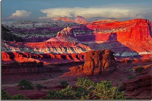 canyon,rock,sunset,utah