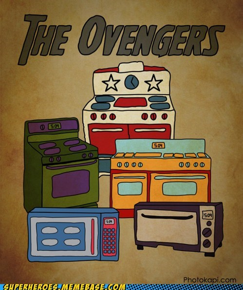assemble,avengers,Awesome Art,oven,pun
