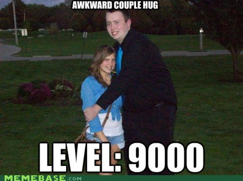 Awkward couple hoverhand huh level 9000 Memes - 6209701376