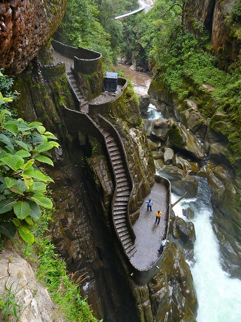 cliff,ecuador,Hall of Fame,jungle,river,steps