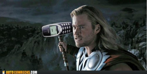 AutocoWrecks g rated mjolnir nokia The Avengers Thor - 6209793280