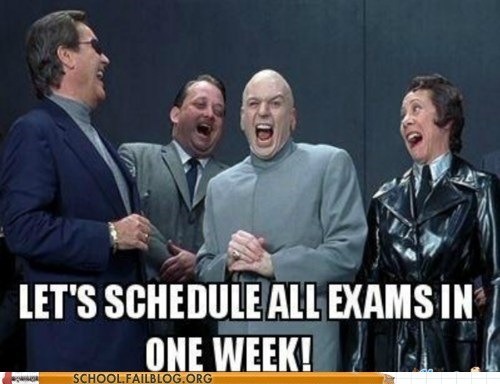 austin powers,dr-evil,exam week,schedule all the exams