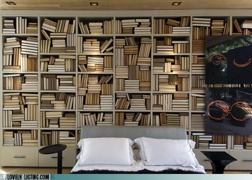 bed bookcase mystery shelves