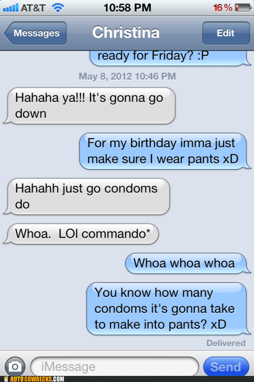 commando,condom pants,condoms,iPhones