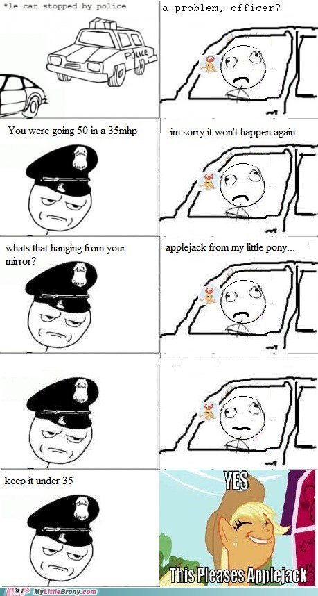 applejack cops driving rage comic Rage Comics speed limit - 6209920256