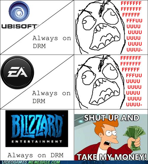 blizzard,diablo,diablo III,DRM,rage comic