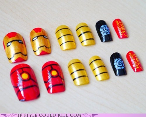 cool accessories nail art nails The Avengers - 6210154752