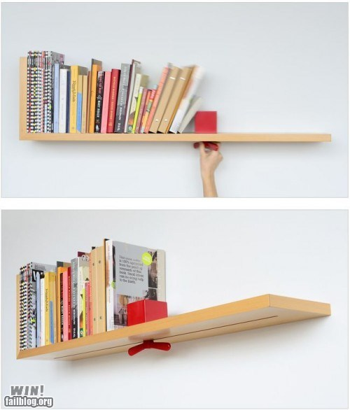 bookshelf clever design reading is sexy