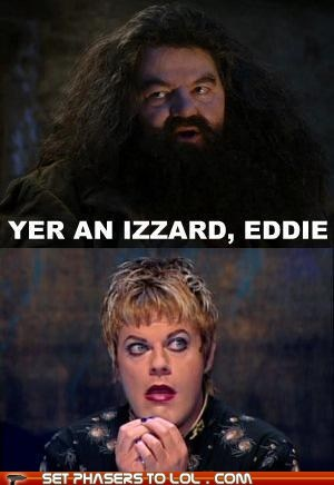 best of the week,eddie izzard,Hagrid,Harry Potter,pun,robbie coltrane,wizard