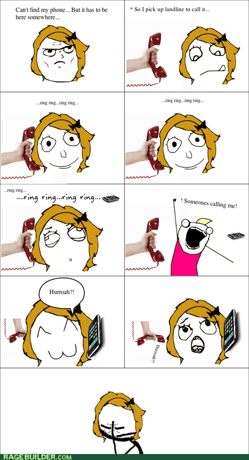 all the things,blonde moment,phone,Rage Comics
