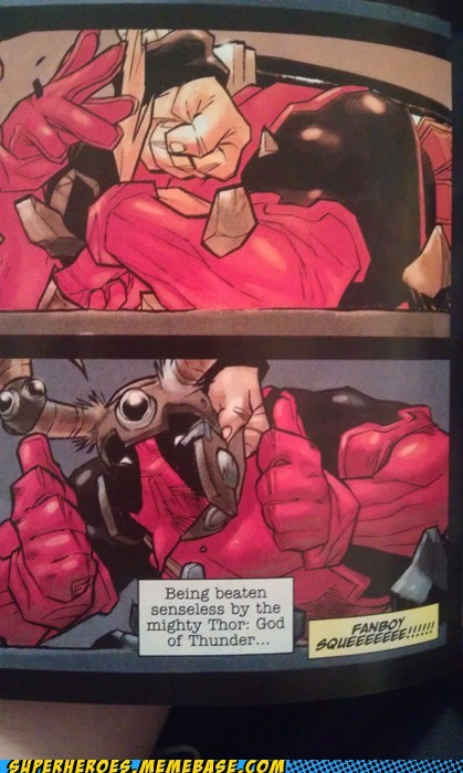 deadpool fanboy squee Straight off the Page Thor - 6210329344
