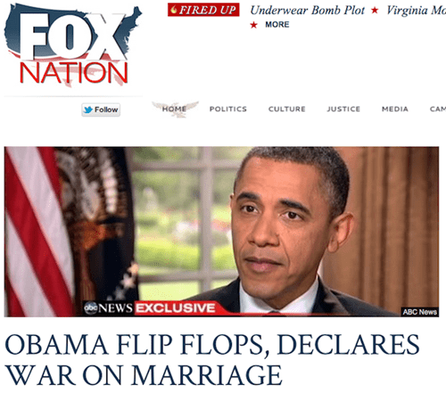 fox,gay marriage,Not The Onion,obama,screengrab
