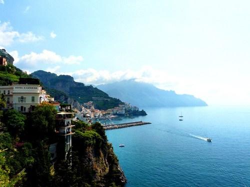 cliff coast Italy ocean - 6210463232