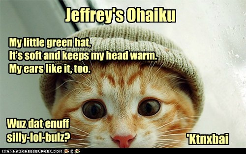 Original Ohaiku by Jeffrey.