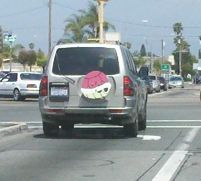 car driving Mario Kart tailgate - 6210641408