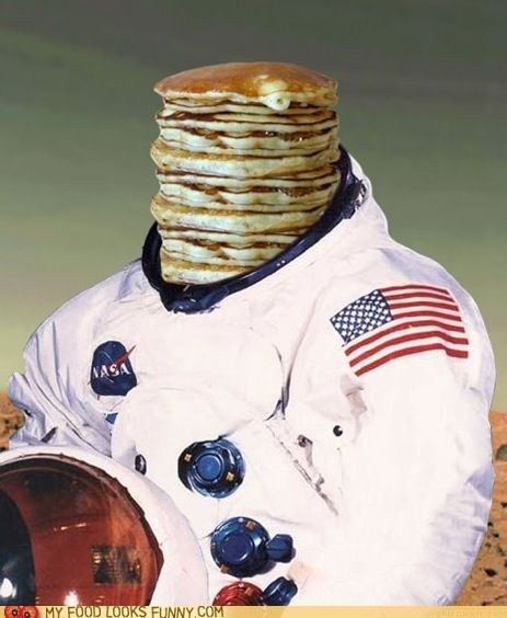 astronaut dream head pancakes wtf
