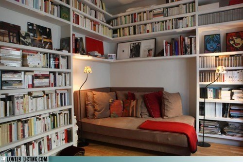 bookcase,books,comfy,corner,couch,shelves