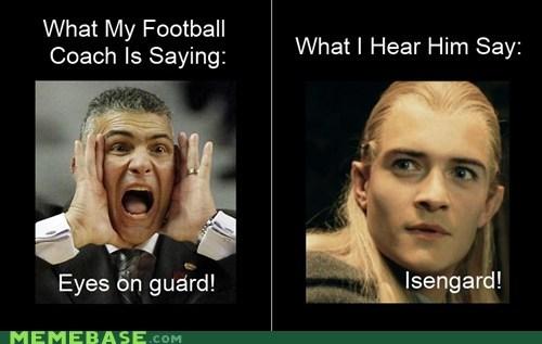 coach eyes guard hobbits Lord of the Rings Memes - 6210786816