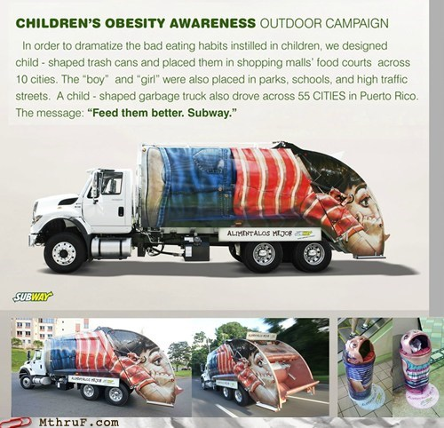ads ddb latina garbage garbage truck puerto rican puerto rico Subway trash