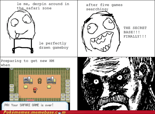 hm,rage comic,Rage Comics,safari zone,secret base