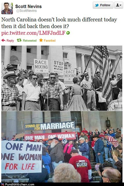 gay rights,North Carolina,political pictures,racism