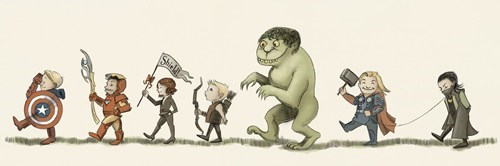 avengers,Fan Art,summer blockbusters,where the wild things are