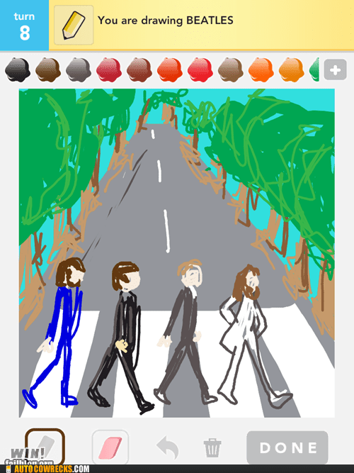 abbey road,draw something,the Beatles