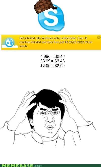 skype Scumbag Steve Jackie Chan maureen ponderosa money - 6212240640