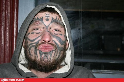 face tattoos Hall of Fame piercings tribal tattoos