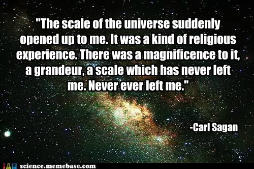 carl sagan,incredible,Professors,scale,universe