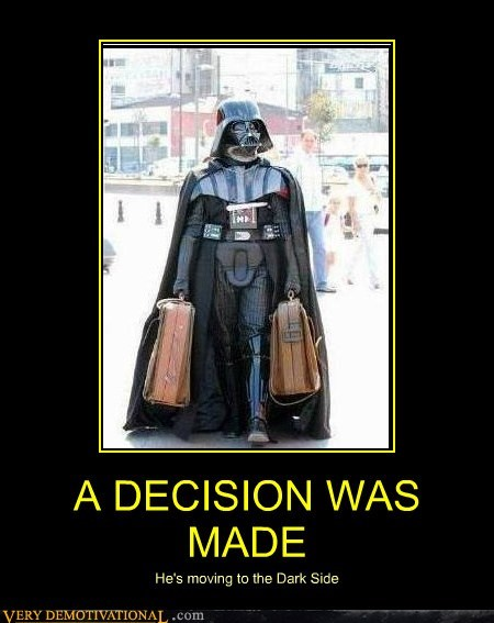 dark side darth vader hilarious moving