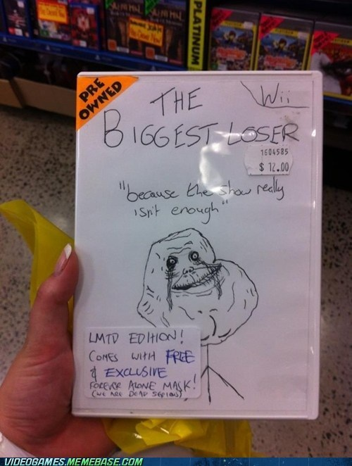 the biggest loser wii forever alone IRL - 6212580864