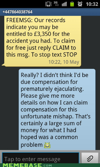 sexytimes scam spam sms - 6212613888