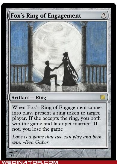 game,magic the gathering,nerdy,proposal,card