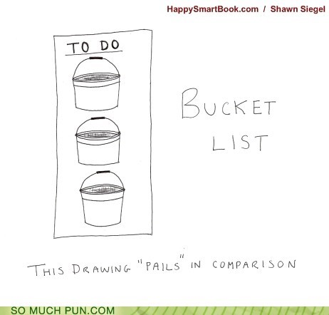 bucket,bucket list,double meaning,list,literalism