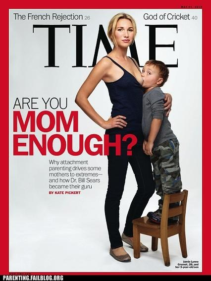 breast feeding magazine cover mom enough time magazine